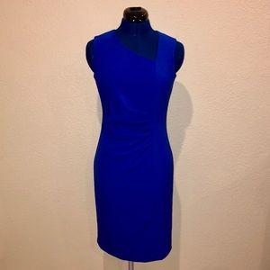Calvin Klein Asymmetrical Neckline Sheath Dress